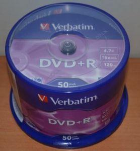 Медиа DVD+R Verbatim 4.7Gb 16x Cake 50 /1/50/