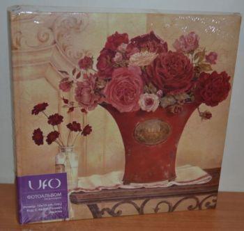 Фотоальбом на 200 фото 10х15 с местом для записей, UFO Flowers peonies-1