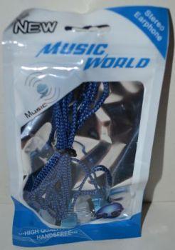 Вакуумные наушники B-010 пакет blu