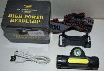 Фонарик налобный BL-872 + аккумулятор + зарядное устройство