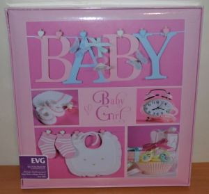 Анкетный фотоальбом самоклейка EVG 20 sheet Baby collage Pink для девочки