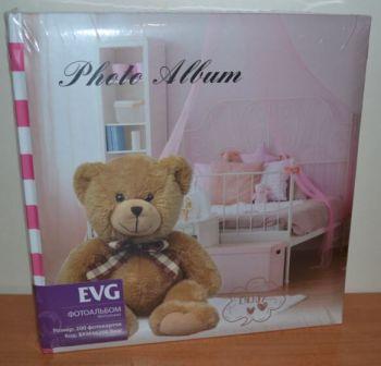 Детский фотоальбом на 200 фото 10х15 с местом для записей EVG Bear