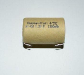 Аккумулятор Bossman 4/5SC 1300mAh 1,2V Ni-Cd + контакты (d=22,5; l=32,5mm)