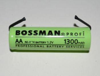 Аккумулятор Bossman AA 1300mAh 1,2V Ni-MH (d=14; l=48mm) + контакты