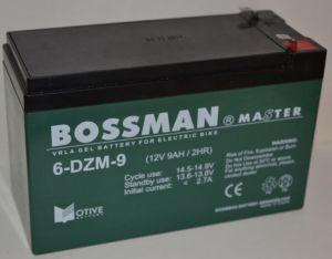Аккумулятор Bossman Master Gel тяговый 12v 9Аh 6DZM9 (151x65x94+6mm)