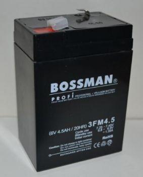 Акк Bossman Profi 6v 4,5Аh 3FM4,5 (70x48x101+5mm)