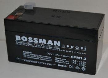 Аккумулятор Bossman Profi 12v 1,3Аh 6FM1,3 (98x45x50+5mm)