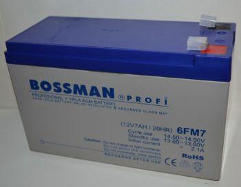Аккумулятор Bossman Profi 12v 7Аh 6FM7 серый (151x65x94+6mm)