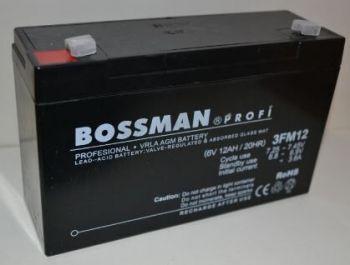 Аккумулятор Bossman Profi 6v 12Аh 3FM12 (151x50x94+6mm)