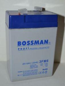 Аккумулятор Bossman Profi 6v 6Аh 3FM6 (70x48x101+5 mm)