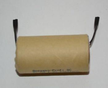 Аккумулятор Bossman SC 2000mAh 1,2V Ni-Cd + контакты (d=22,5; l=43,0mm)