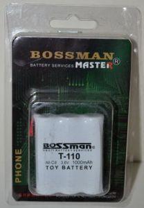 Аккумулятор Bossman T110 (3*AA) 1000mAh 3,6V Ni-Сd + контакты