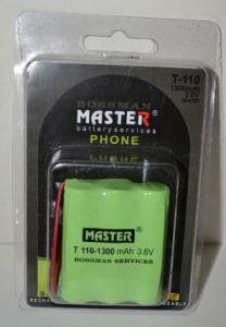 Аккумулятор Bossman T110 (3*AA) 1300mAh 3,6V Ni-Mh + контакты UP