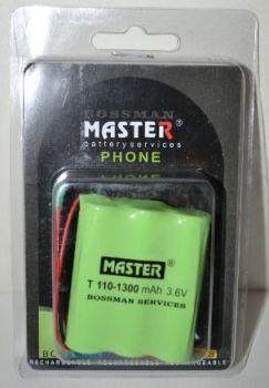 Аккумулятор Bossman T110 (3*AA) 1300mAh 3,6V Ni-Mh c проводами