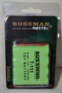 Аккумулятор Bossman T111 (4*AA) 1300mAh 4,8V Ni-Mh c проводом