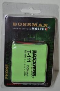 Аккумулятор Bossman T111 (4*AA) 1300mAh 4,8V Ni-Mh + контакты UP