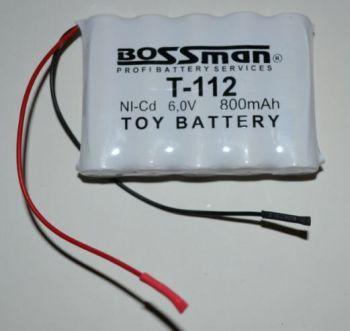 Аккумулятор Bossman T112 (5*AA) 800mAh 6V Ni-Cd c проводом