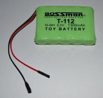 Аккумулятор Bossman T112 (5*AA) 1300mAh 6V Ni-Mh c проводом