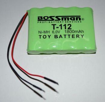 Аккумулятор Bossman T112 (5*AA) 1800mAh 6V Ni-Mh c проводом
