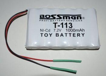 Акк Bossman T113 (6*AA) 1000mAh 7,2V Ni-Cd c проводом