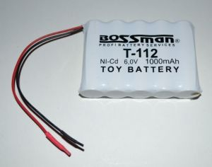 Аккумулятор Bossman T112 (5*AA) 1000mAh 6V Ni-Cd c проводом