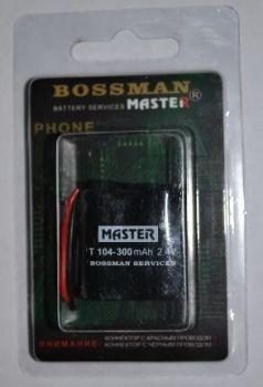 Аккумулятор Bossman T104 (2*2/3AA) 300mAh 2,4V Ni-Сd + контакты UP