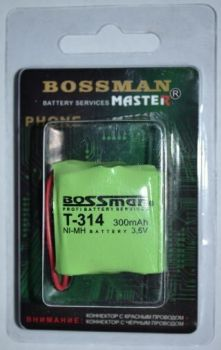 Акк Bossman T314 (3*2/3AAA) 300mAh 3,6V Ni-Сd блистер 1х1шт /1/