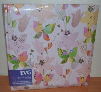 Фотоальбом на 200 фото 10х15 с местом для записей EVG Butterfly2