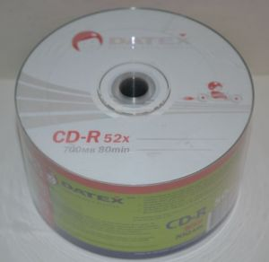 Диск CD-R Datex 700Mb 52x Bulk 50 /1/50/600шт.