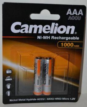 Аккумулятор ААА Camelion НR-03 1000mAh Ni-Сd блистер 1х2шт /2/24шт