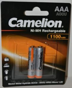 Аккумулятор ААА Camelion НR-03 1100mAh Ni-Сd блистер 1х2шт /2/24шт