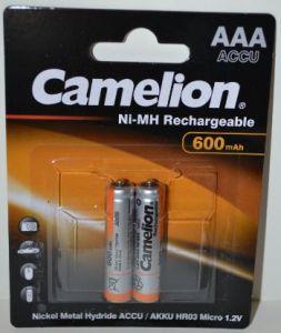 Аккумулятор ААА Camelion НR-03 600mAh Ni-Сd блистер 1х2шт /2/24шт