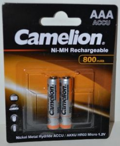 Аккумулятор ААА Camelion НR-03 800mAh Ni-Сd блистер 1х2шт /2/24шт