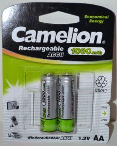 Аккумулятор Camelion НR-6 (АА-пальчиковый) 1000mAh Ni-MH блистер 1х2шт /2/24шт.