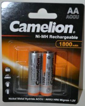 Аккумулятор Camelion НR-6 (АА-пальчиковый) 1800mAh Ni-MH блистер 1х2шт /2/24шт.