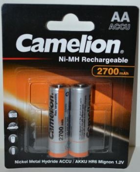Аккумулятор Camelion НR-6 (АА-пальчиковый) 2700mAh Ni-MH блистер 1х2шт /2/24шт.
