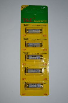 Батарейка T&E Alkaline 27А 1х5шт /1/5/