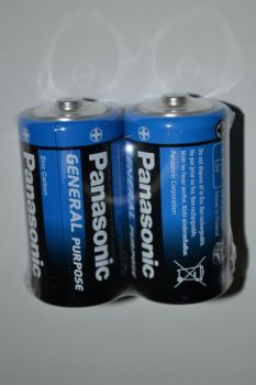 Батарейка PANASONIC General R-14 коробка 1х2шт /2/24/