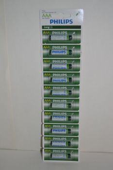 Бат Philips Longlife R-03 1х10шт (отрывная) /10/100/