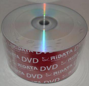 Диск DVD-R Ridata 4,7Gb 16x Bulk 50 /1/50/600шт.