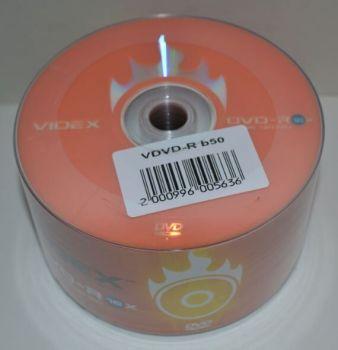 Диск DVD-R Videx 4.7Gb 16x Bulk 50 /1/50/600шт.