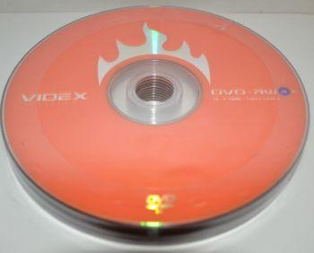 Диск DVD-RW Videx 4,7Gb 4x Bulk 10 /1/10шт.