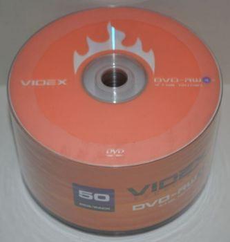 Диск DVD-RW Videx 4,7Gb 4x Bulk 50 /1/50шт.