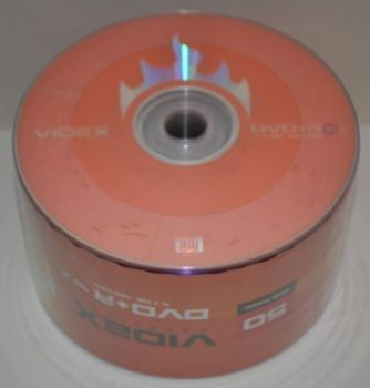 Диск DVD+R Videx 4.7Gb 8x Bulk 50 /1/50/600шт.