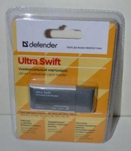 Картридер Defender Ultra Swift USB 2,0