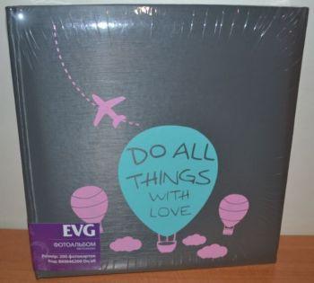 Фотоальбом на 200 фото 10х15 с местом для записей EVG Do all