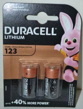 Батарейка Duracell CR-123A Lithium 1x2шт