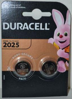 Батарейка Duracell DL2025 DSN Lithium 1x2шт /2/20шт.