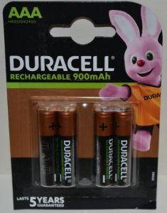 Аккумулятор ААА Duracell HR-03 900mAh Ni-MH блистер 1х4шт /4/40шт.