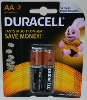 Батарейка АА Duracell LR-6 MN1500 блистер 1х2шт /2/24/96шт.